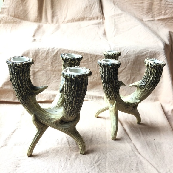 Pagan Triple Horn Candelabra for Spell Work